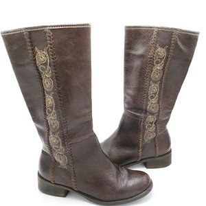 Matisse Tall Embroidered Brown Boho Boots